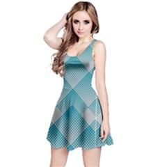 Turquiose Gradient Reversible Sleeveless Dress