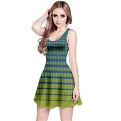 Neon Green Gradient Reversible Sleeveless Dress