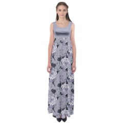 Gray Roses Empire Waist Maxi Dress by CoolDesigns