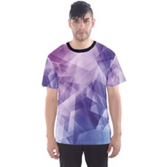 Colorful Iridescent Blue Purple And Pink Pattern Men s Sport Mesh Tee by CoolDesigns