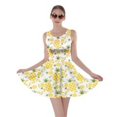 Yellow Pineapple Pattern Skater Dress