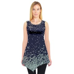 Navy Snowy Sleeveless Tunic Top by CoolDesigns