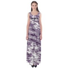 Violet Tie Dye Empire Waist Maxi Dress by CoolDesigns