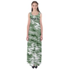 Green Tie Dye 2 Empire Waist Maxi Dress by CoolDesigns