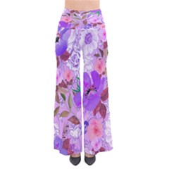 Navyfloral Chic Palazzo Pants by CoolDesigns