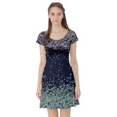 Navy4 Vintage Floral Short Sleeve Dress by CoolDesigns
