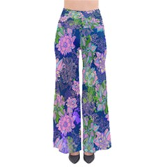Bluefloral Chic Palazzo Pants by CoolDesigns