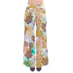 Yellowfloral Chic Palazzo Pants by CoolDesigns