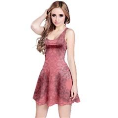 Coral Damask Sleeveless Dress