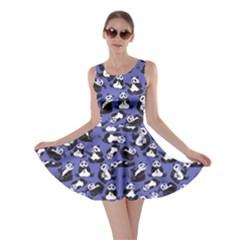 Purple Panda Skater Dress