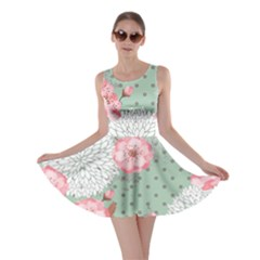 Light Green Blossom Skater Dress by CoolDesigns