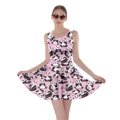 Light Pink Panda Skater Dress