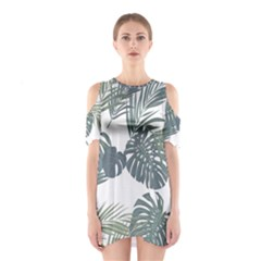 Palm Tree Cutout Shoulder One Piece by CoolDesigns