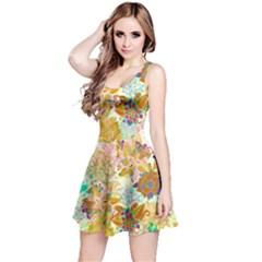 Yellow Floral Sleeveless Dress