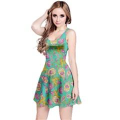 Mint Paisley Sleeveless Dress