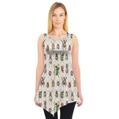 Gray Pattern With Watercolor Beetles Sleeveless Tunic Top by CoolDesigns