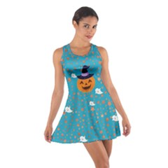 Blue Pumpkin Cotton Racerback Dress by CoolDesigns