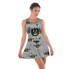 Pumpkin Gray 2 Cotton Racerback Dress by CoolDesigns