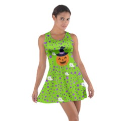 Green Pumpkin Cotton Racerback Dress by CoolDesigns