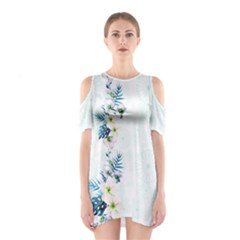 Light Blue Hawaii  2 Cutout Shoulder One Piece by CoolDesigns
