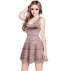 Mocha Check Tie Dye Sleeveless Dress