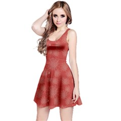 Red Halloween Spider Web Pattern Skater Dress