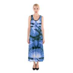 Blue Tie Dye 3 Sleeveless Maxi Dress by CoolDesigns