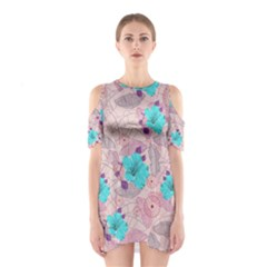 Pink Hawaii 2 Cutout Shoulder One Piece by CoolDesigns