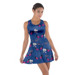 Navy Eyes Cotton Racerback Dress by CoolDesigns