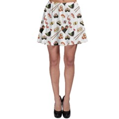 Colorful Pattern With Japanese Food Skater Skirt by CoolDesigns