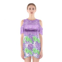 Violet Hawaii Cutout Shoulder One Piece by CoolDesigns
