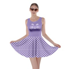 Violet Cat Dot Skater Dress by CoolDesigns