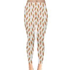 Orange Pattern Ripe Carrots Leggings