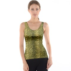 Green Leather Animal Snake Reptile Crocodile Pattern Tank Top by CoolDesigns
