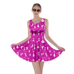 Violet Lovely Cats Pattern Skater Dress by CoolDesigns