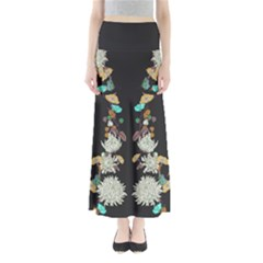 Dry Floral Maxi Skirt by CoolDesigns