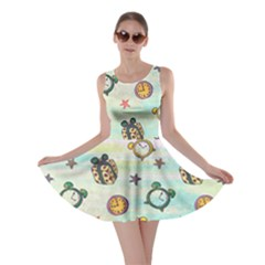 Frizzle Clock 2 Skater Dress by CoolDesigns