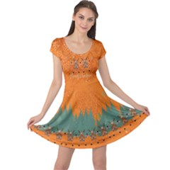 Orange Xmas Cap Sleeve Dress by CoolDesigns