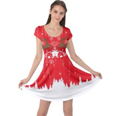 Red Christmas Cap Sleeve Dress by CoolDesigns