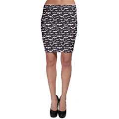 Black Halloween Pattern Bodycon Skirt by CoolDesigns