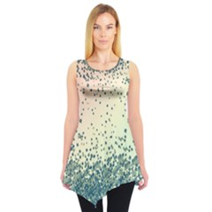 Turquoise Snowy Sleeveless Tunic Top by CoolDesigns