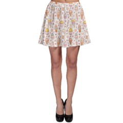 Colorful Yummy Ice Cream Pattern Skater Skirt by CoolDesigns