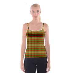 Orange Pattern In Rasta Colors Spathetti Strap Top by CoolDesigns