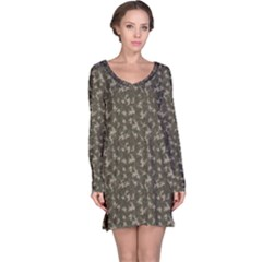 Green Camouflage Pattern Long Sleeve Nightdress
