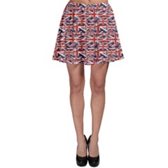 Red Pattern Of British Flag Skater Dress by CoolDesigns