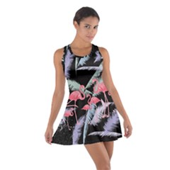 Flamingo Feather  Dark Cotton Racerback Dress by CoolDesigns