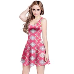 Hot Pink Aztec Sleeveless Dress by CoolDesigns