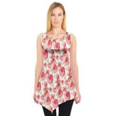 Red Roses Sleeveless Tunic Top by CoolDesigns