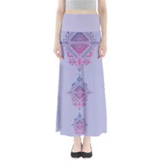 Violet Tribal Maxi Skirt by CoolDesigns