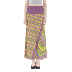 Yellow Tribal Maxi Skirt by CoolDesigns